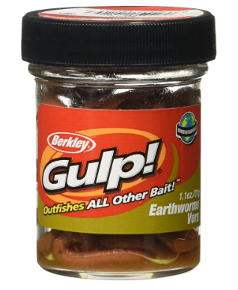 gulp earthworm bait for trout fishing